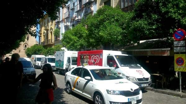 La calle Mateos Gago de Sevilla