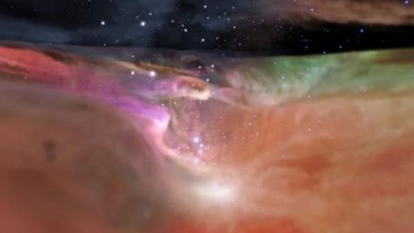Vídeo de la NASA hasta la nebulosa de Orión