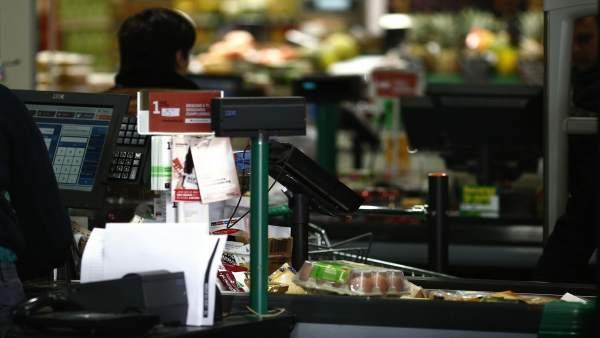 Caja, cajero, cajera, compra, compras, consumo, IPC, comprar