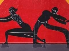 Una de las obras de Eduardo Arroyo.
