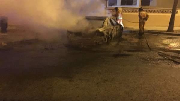 Queman el coche del concejal  de UPU José Carlos Hernández Cansino.