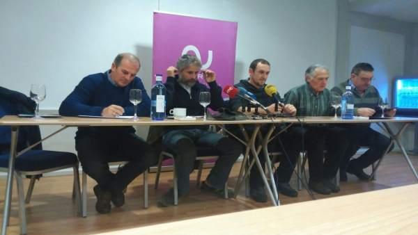 Rueda de prensa del colectivo Asturias Ganadera