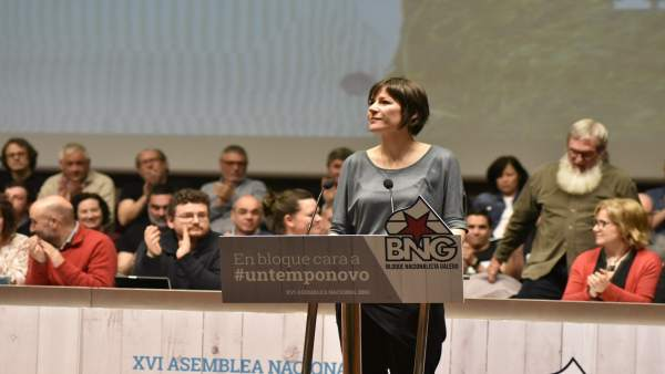 La portavoz nacional del BNG, Ana Pontón, en la asamblea nacional