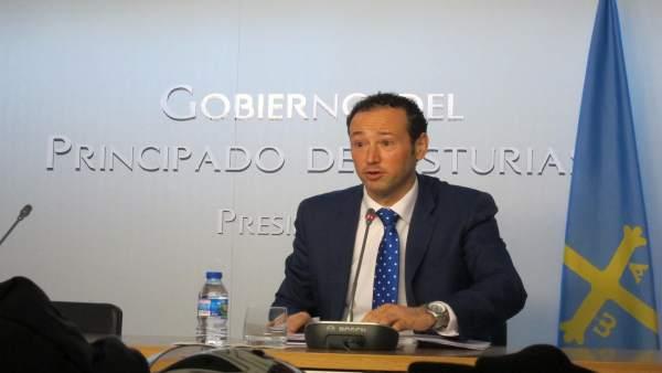 El portavoz del Principado, Guillermo Martínez