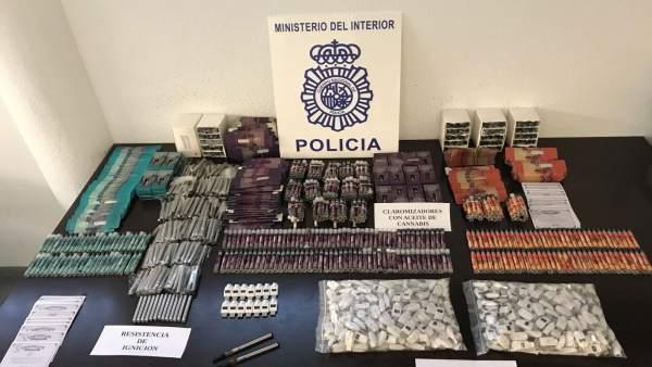 Policía nacional cigarrillos electronicos cannabis málaga detenido oede