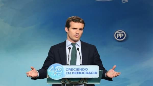 Pablo Casado impartirà divendres que ve una conferència sobre els desafiaments polítics a Europa en l'Ateneu de València
