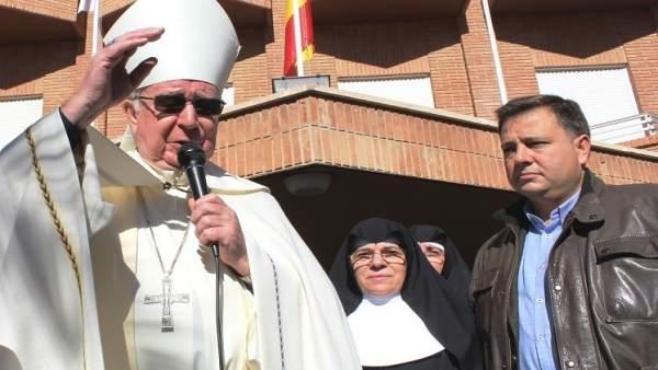 El obispoy el alcalde de Albacete