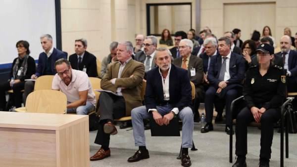 Correa, El Bigotes, Crespo y Ricardo Costa en el juicio de Gürtel por la financiación irregular del PP valenciano.