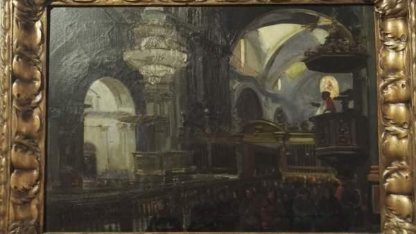 S'exposa per primera vegada el llenç 'La Catedral en 1900', d'autor desconegut