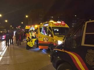 Ambulancia atiende a aficionado del Atlético apuñalado