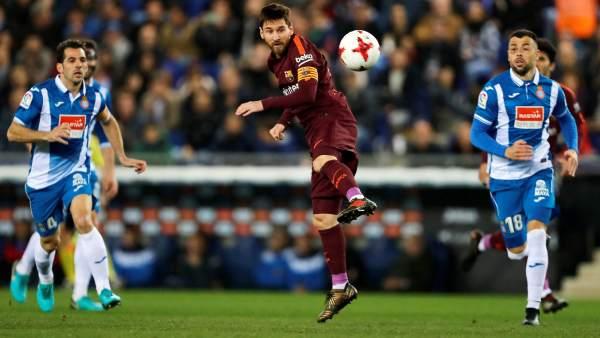 Messi ante el Espanyol