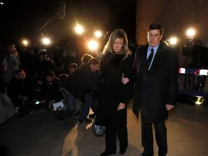 Padres de Diana Quer en el funeral