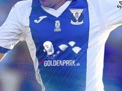 Chiquito de la Calzada, en la camiseta del Leganés contra el Real Madrid