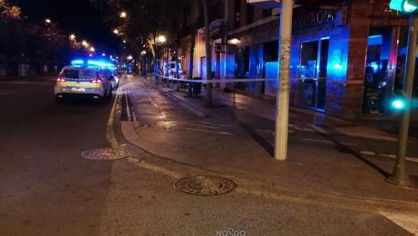Zona del accidente mortal de un motorista en Sevilla