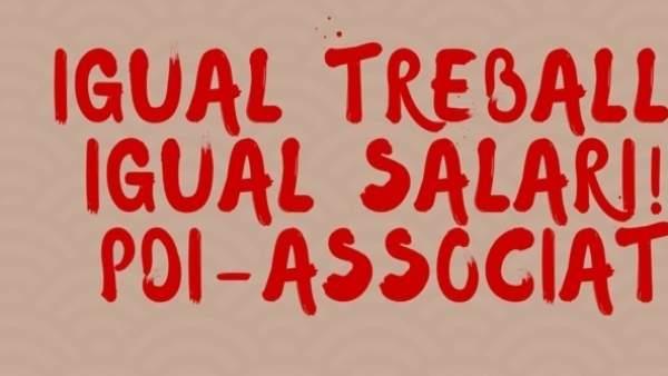 """Professors associats de la UV convoquen vaga indefinida per a exigir  """"condicions salarials i laborals dignes"""""""