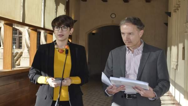 Violeta Barba y Fernando Sanmartín, en La Aljafería