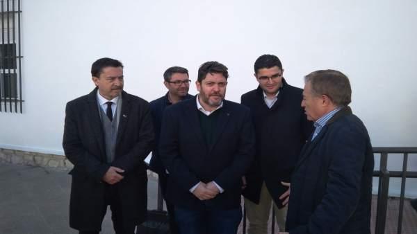 Juanjo Molina, Miguel Sánchez, José Carlos Gómez y José Francisco García