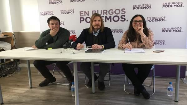 Félix Díez, Pablo Fernández y Laura Dominguez