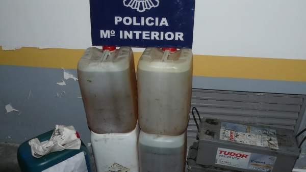 Detenidos dos vecinos de Pontevedra por sustraer más de 2.500 litros de gasoil