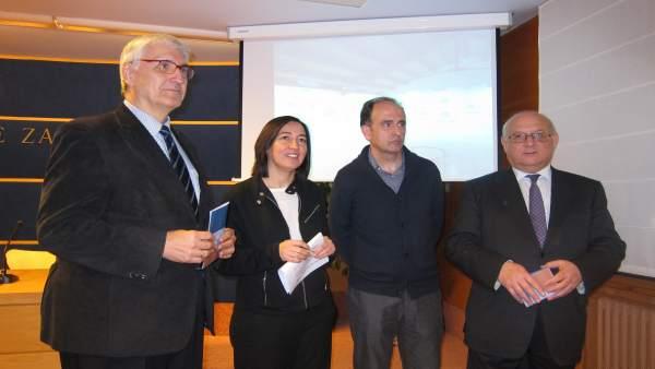 Buesa, Palacín, Lozano y Romero han presentado la muestra este jueves