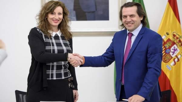 María Vázquez (PP) y Rafael Burgos (Cs)
