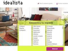 Web del portal inmobiliario Idealista