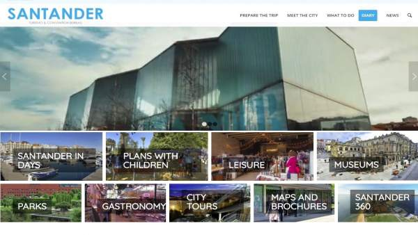 Captura de la web de turismo de Santander