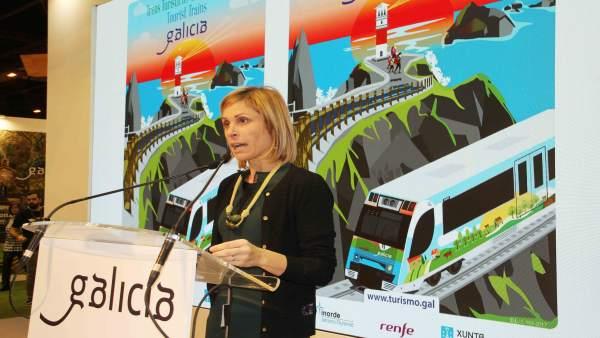 Nava Castro en la presentación de las nuevas rutas turísticas en tren