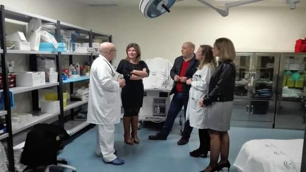 El PP visita el Hospital La Inmaculada