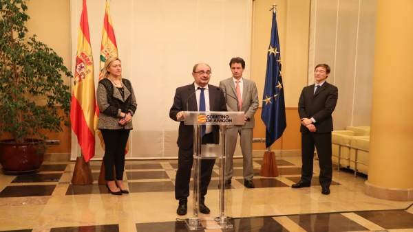 Presentación de inversiones en el aeropuerto de Teruel.