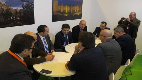 Presidente de la Diputación de Jaén, Francisco Reyes, se reúne con empresarios