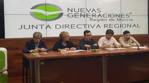 Junta directiva Nuevas Generaciones PP