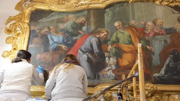 Restauración pictórico-ornamental de la capilla de la Parroquia de San Nicolás