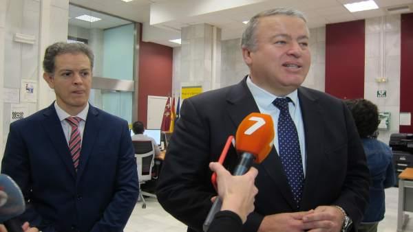 Bernabé y Morales, en la rueda de prensa