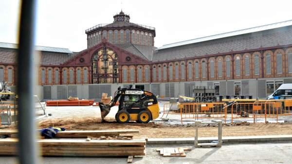 Las obras del Mercado de Sant Antoni están finalizando.