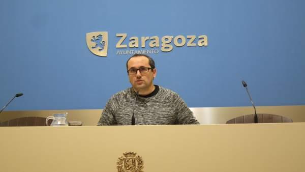 Alberto Cubero, este viernes en rueda de prensa en el Ayuntamiento