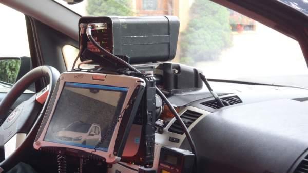Radar De Policía Foral En Una Campaña De Control De Velocidad