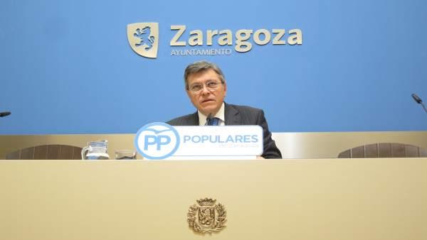 El concejal del PP, José Ignacio Senao, este viernes en rueda de prensa