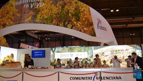 Imagen del stand valenciano en Fitur 2018