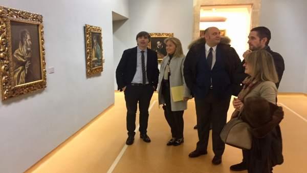 Representantes de Foro en el Museo de Bellas Artes