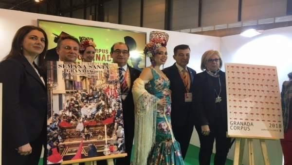 Granada Presenta En Fitur Los Carteles Del Corpus Y La Semana Santa