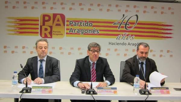 Sergio Larraga, Arturo Aliaga y Óscar Cámara, del PAR