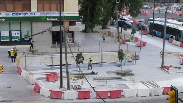 Metro tramo obras renfe guadalmedina albert camus avenida aurora