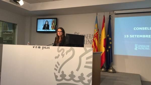 """Oltra, sobre l'absència de Compromís en acte de l'AVE: """"Si va Puig estem representats. No fa falta 200 per a una foto"""""""