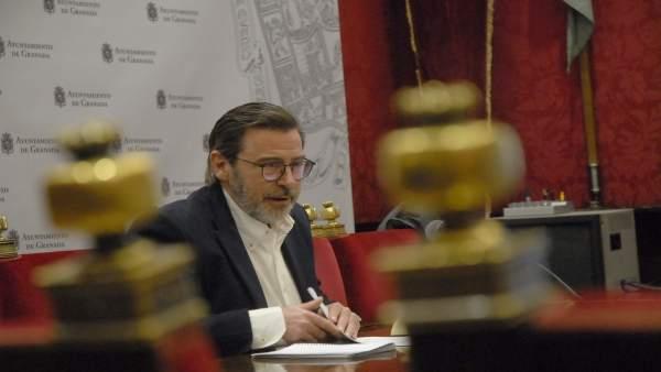 El concejal de Economía y portavoz, Baldomero Oliver