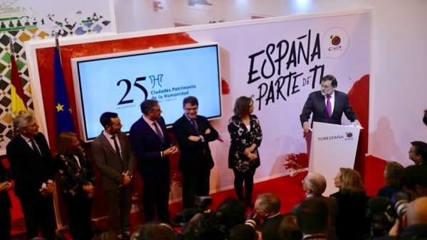 Rajoy preside en Fitur un acto con las ciudades Patrimonio de la Humanidad