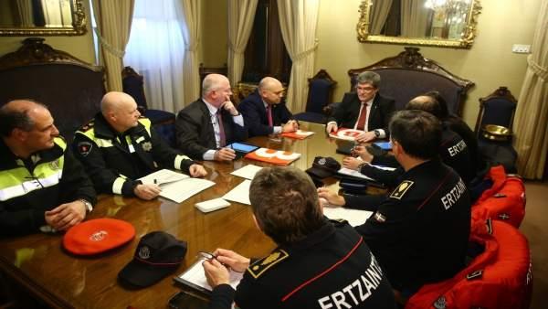 Reunión del Ayuntamiento de Bilbao y Departamento de Seguridad