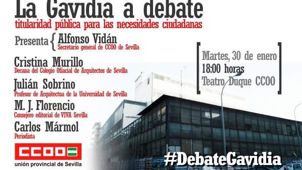 Cartel del debate.