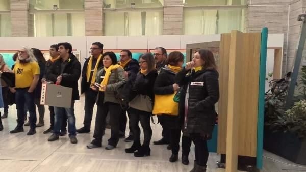Protesta De Trabajadores De La Generalitat