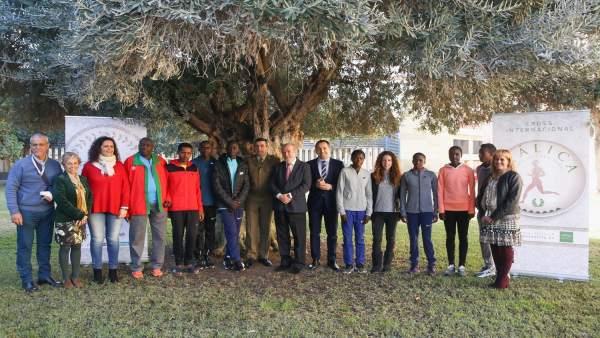 Recibimiento en la Diputación de Sevilla a atletas del Cross de Itálica